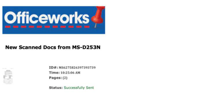 Sample scam website