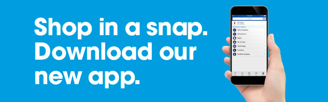 Shop in a snap. Download our new app.