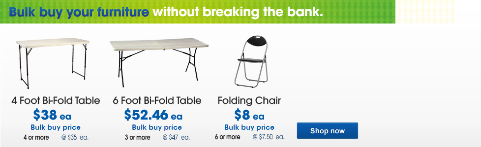 Foldable tables and chairs