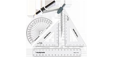 Math Set, Compasses & Protractors
