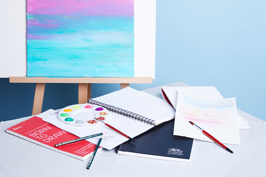 Look for suitable materials for your artwork, from visual art diaries to specialty paper
