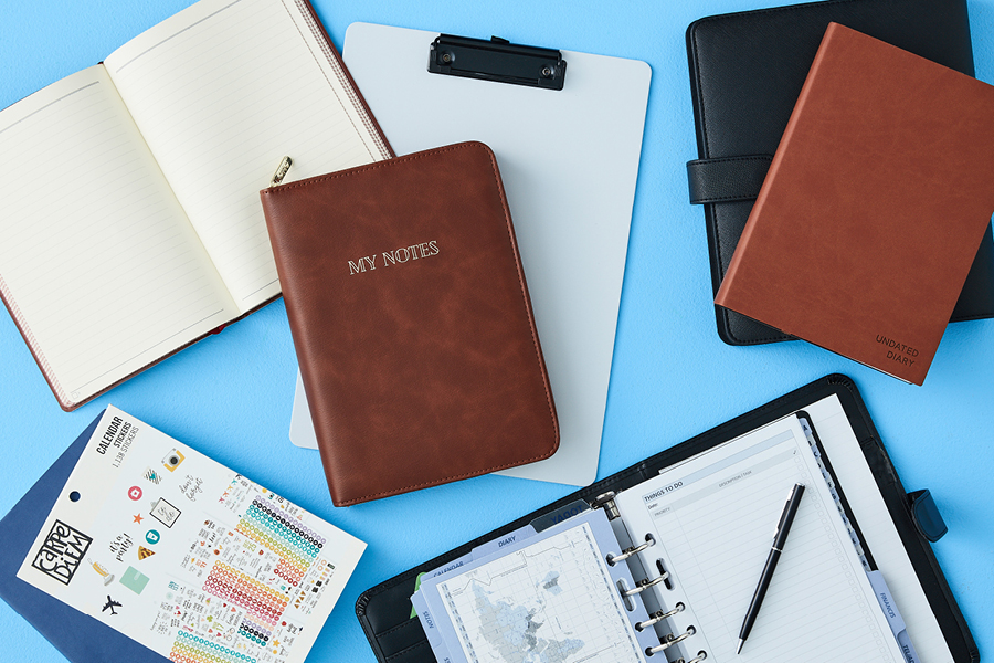 Planners and diaries should be on your home office essentials list.