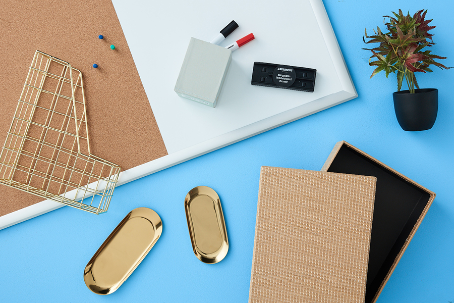 Choose decorative items as part of your home office essentials for remote working.