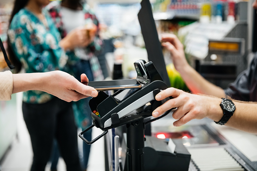 There are specific point of sale systems to handle online payments.