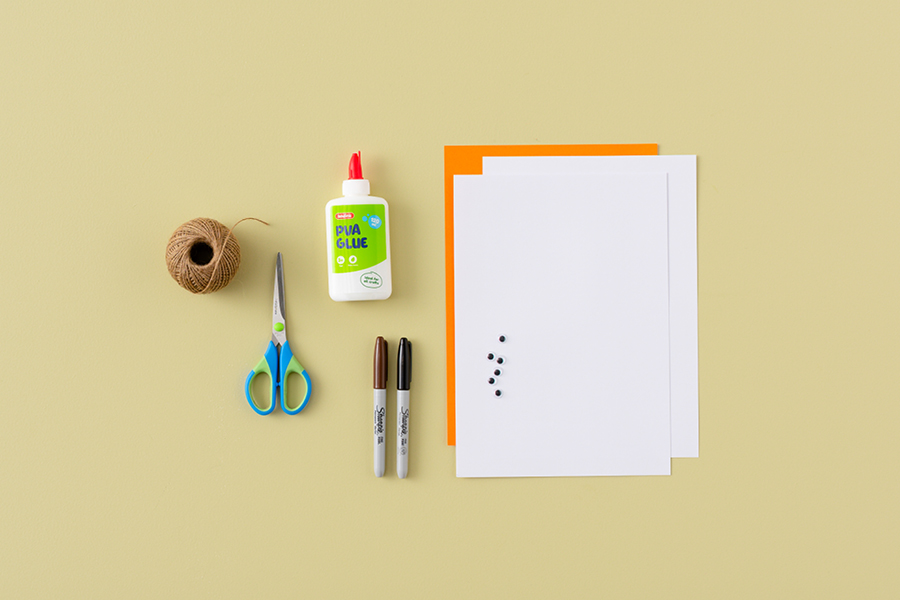 You'll need paper, scissors, glue and markers for this summer craft project