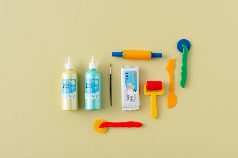 Use clay and paint to make this cool summer craft