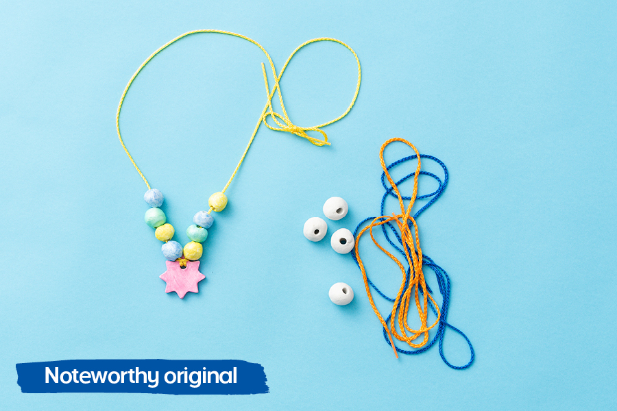 Officeworks Noteworthy blog has many fun craft ideas for kids, including bead-making with air dry clay.