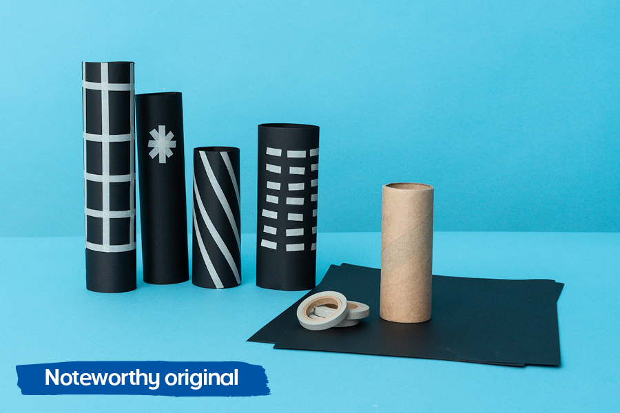 Officeworks' Noteworthy blog has many fun craft ideas for kids, including creating a cardboard roll city.