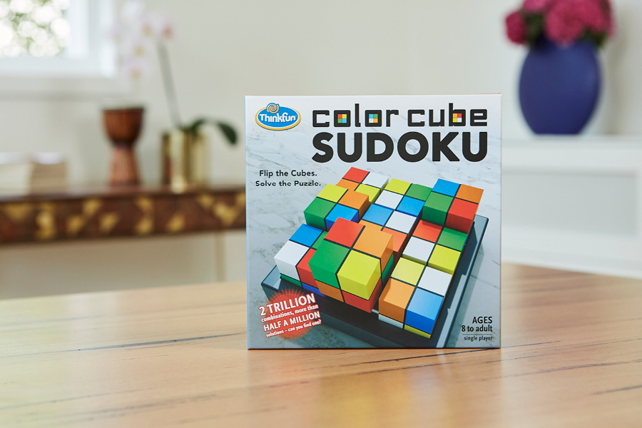 Upper primary school kids review the Thinkfun Colour Cube Sudoku Puzzle