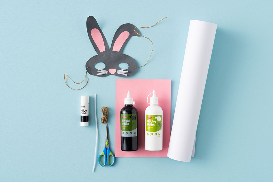 Hop to it and try this easy Easter craft for kids: a cute Easter bunny face mask
