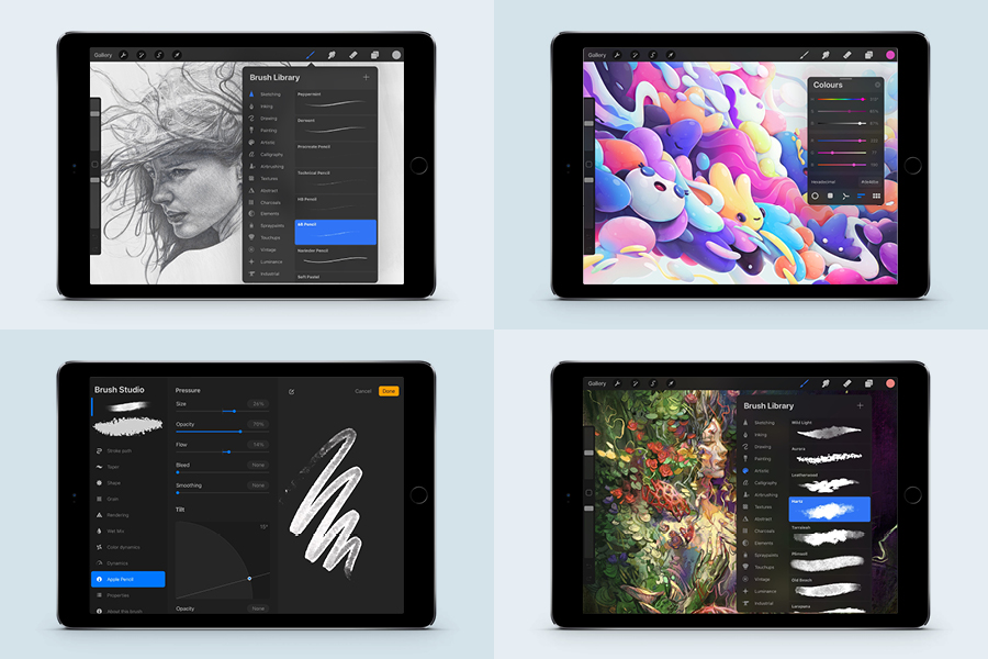 The Procreate App is one one the most popular drawing apps for iPad.