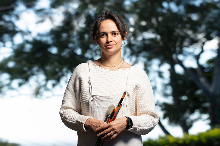 Indigenous artist Ryhia Dank shares her inspiration and creative process.