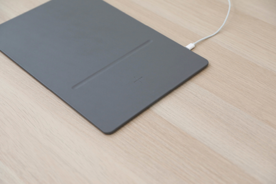 The best business tech this month is the POUT HANDS 3 PRO Wireless Charging Mouse Pad.