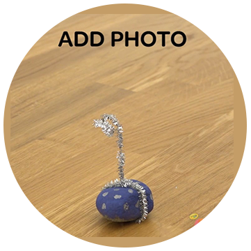 How to create a painted rock picture stand Step 4